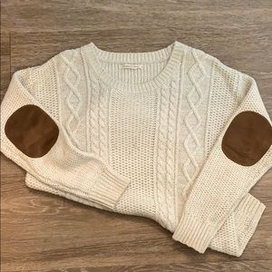 Elbow Patch Cream Sweater